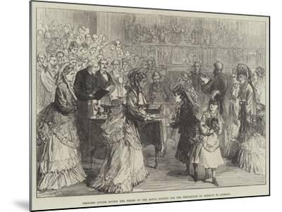 Princess Louise Giving the Prizes of the Royal Society for the Prevention of Cruelty to Animals-Charles Robinson-Mounted Giclee Print