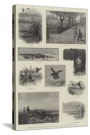 Illustrations from The Badminton Library of Sports and Pastimes, Moor and Marsh, Field and Covert-Charles Whymper-Stretched Canvas Print