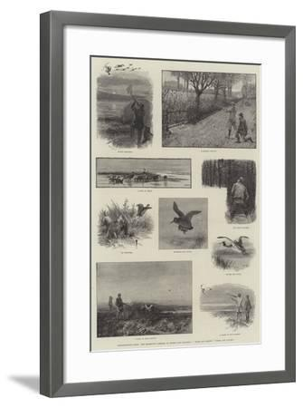 Illustrations from The Badminton Library of Sports and Pastimes, Moor and Marsh, Field and Covert-Charles Whymper-Framed Giclee Print