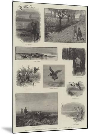 Illustrations from The Badminton Library of Sports and Pastimes, Moor and Marsh, Field and Covert-Charles Whymper-Mounted Giclee Print