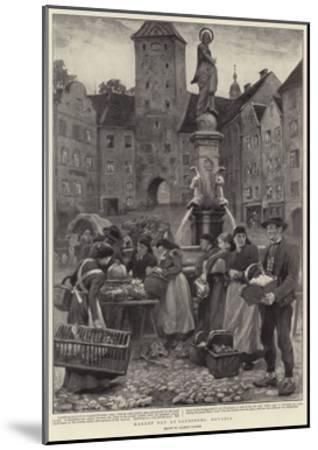 Market Day at Landsberg, Bavaria-Clement Flower-Mounted Giclee Print