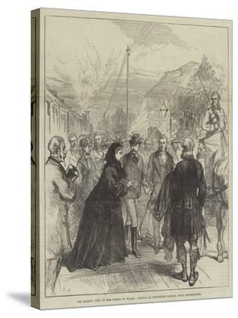 The Queen's Visit to the Prince of Wales, Arrival at Wolferton Station, Near Sandringham-Charles Robinson-Stretched Canvas Print