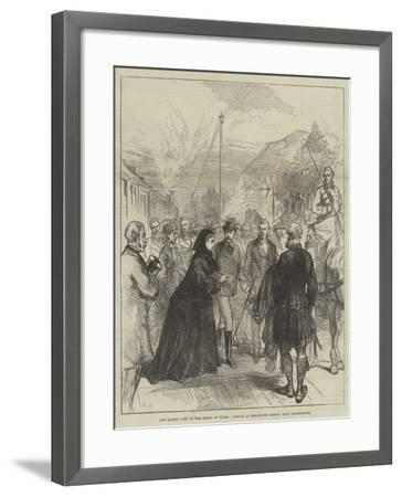 The Queen's Visit to the Prince of Wales, Arrival at Wolferton Station, Near Sandringham-Charles Robinson-Framed Giclee Print