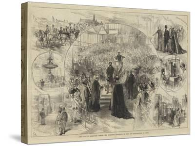 The Duke of Edinburgh Opening the Yorkshire Exhibition of Arts and Manufactures at Leeds-Charles Robinson-Stretched Canvas Print