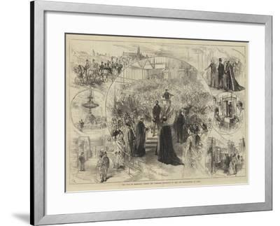 The Duke of Edinburgh Opening the Yorkshire Exhibition of Arts and Manufactures at Leeds-Charles Robinson-Framed Giclee Print