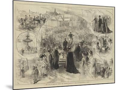 The Duke of Edinburgh Opening the Yorkshire Exhibition of Arts and Manufactures at Leeds-Charles Robinson-Mounted Giclee Print