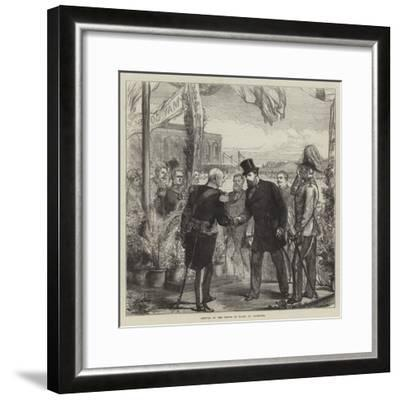 Arrival of the Prince of Wales at Plymouth-Charles Robinson-Framed Giclee Print