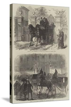 The Funeral of Lord Palmerston-Charles Robinson-Stretched Canvas Print