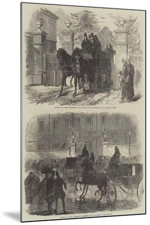 The Funeral of Lord Palmerston-Charles Robinson-Mounted Giclee Print