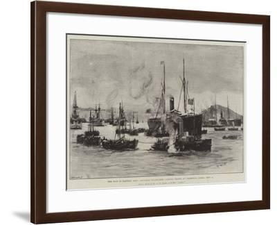 The War in Eastern Asia, Japanese Transports Landing Troops at Chemulpo, Corea, 9 September-Charles William Wyllie-Framed Giclee Print