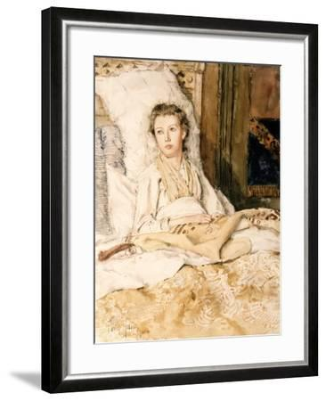 Maud Sewing, 1883-Childe Hassam-Framed Giclee Print