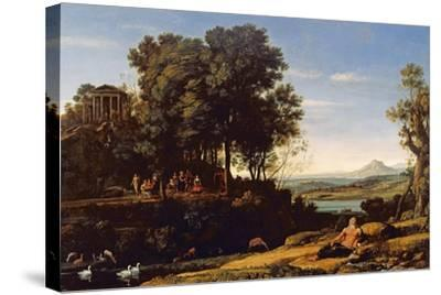 Landscape with Apollo and the Muses, 1652-Claude Lorraine-Stretched Canvas Print