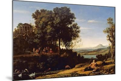 Landscape with Apollo and the Muses, 1652-Claude Lorraine-Mounted Giclee Print