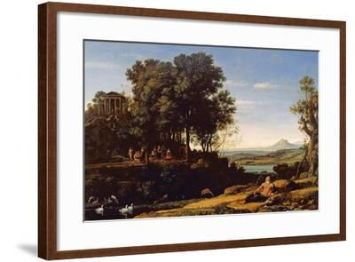 Landscape with Apollo and the Muses, 1652-Claude Lorraine-Framed Giclee Print