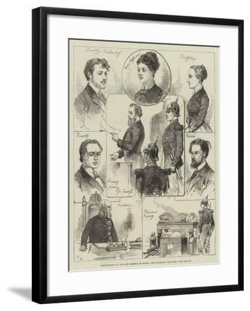Assassination of the Late Emperor of Russia, the Condemned Prisoners-Charles Robinson-Framed Giclee Print