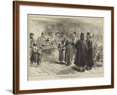 Soup Kitchen for Homeless Peasants at Belgrade-Charles Robinson-Framed Giclee Print