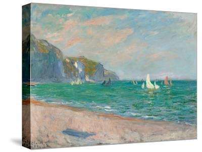 Boats Below the Pourville Cliffs; Bateaux Devant Les Falaises De Pourville, 1882-Claude Monet-Stretched Canvas Print