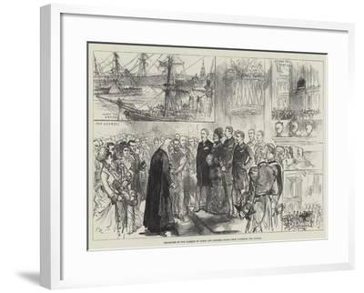 Departure of the Marquis of Lorne and Princess Louise from Liverpool for Canada-Charles Robinson-Framed Giclee Print
