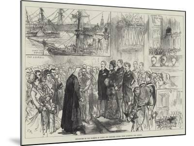 Departure of the Marquis of Lorne and Princess Louise from Liverpool for Canada-Charles Robinson-Mounted Giclee Print