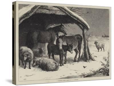 A Christmas Party-Ebenezer Newman Downard-Stretched Canvas Print