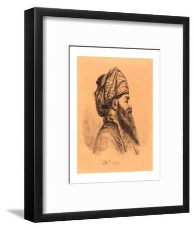 Profile Head of Oriental in Turban, 1820, Lithograph-Dominique Vivant Denon-Framed Giclee Print