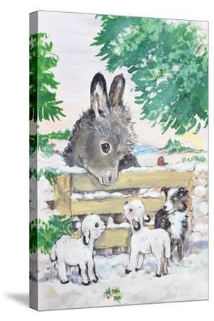 Farmyard Friends, 1996-Diane Matthes-Stretched Canvas Print