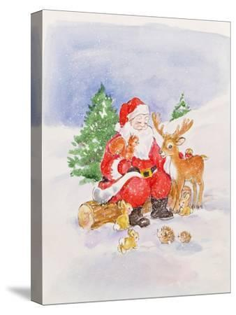 Santa and Friends-Diane Matthes-Stretched Canvas Print