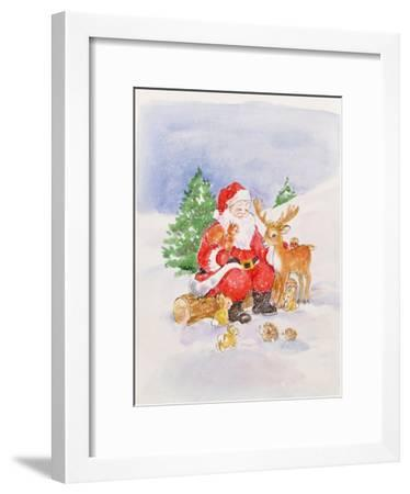 Santa and Friends-Diane Matthes-Framed Giclee Print