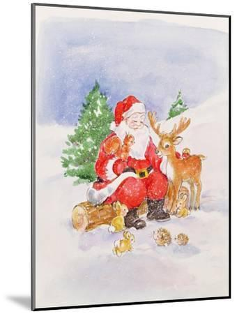 Santa and Friends-Diane Matthes-Mounted Giclee Print