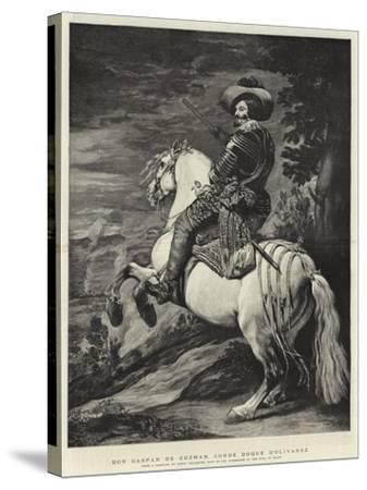 Don Gaspar De Guzman, Conde Duque D'Olivarez-Diego Velazquez-Stretched Canvas Print