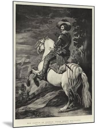 Don Gaspar De Guzman, Conde Duque D'Olivarez-Diego Velazquez-Mounted Giclee Print