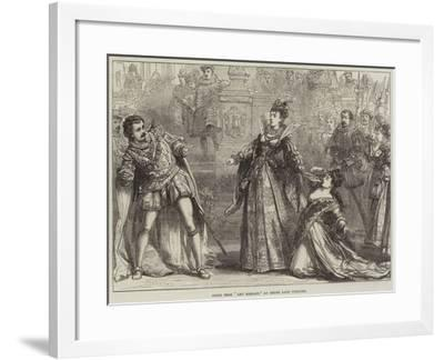 Scene from Amy Robsart, at Drury Lane Theatre-David Henry Friston-Framed Giclee Print