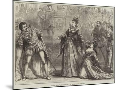 Scene from Amy Robsart, at Drury Lane Theatre-David Henry Friston-Mounted Giclee Print