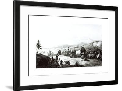 Arrival of the Caravan at Sante Fe, Engraved by A. L. Dick-E. Didier-Framed Giclee Print