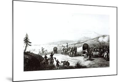 Arrival of the Caravan at Sante Fe, Engraved by A. L. Dick-E. Didier-Mounted Giclee Print
