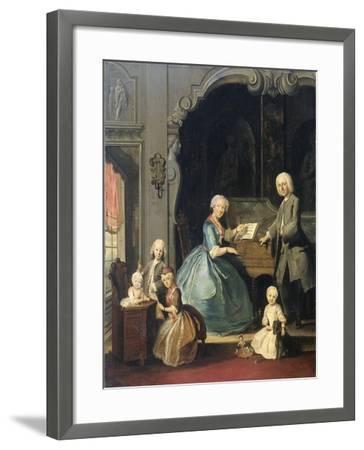 Family Group Near a Harpsichord, 1739-Cornelis Troost-Framed Giclee Print