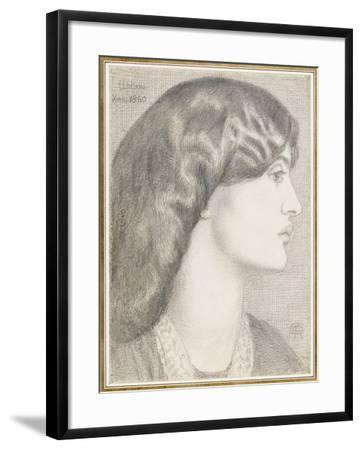 Mrs William Morris, 1860-Dante Gabriel Charles Rossetti-Framed Giclee Print