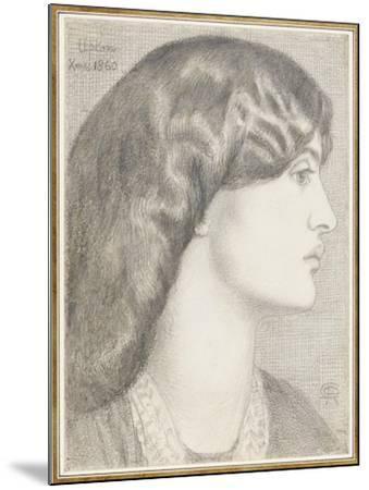 Mrs William Morris, 1860-Dante Gabriel Charles Rossetti-Mounted Giclee Print