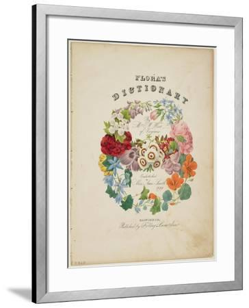 Frontispiece and Title Page, Wreath of Flowers, from Flora's Dictionary, 1838-E. W. Wirt-Framed Giclee Print