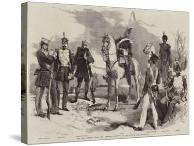The War Between Spain and Morocco, Costumes of the Spanish Army-Edmond Morin-Stretched Canvas Print