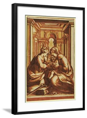 The Marriage of St. Catherine-Correggio-Framed Giclee Print