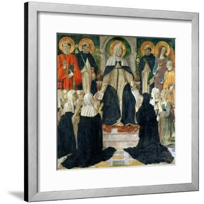 St. Catherine of Siena as the Spiritual Mother of the 2nd and 3rd Orders of St. Dominic-Cosimo Rosselli-Framed Giclee Print