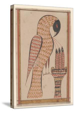 Pelican in its Piety, Fraktur Painting, C.1810-David Kulp-Stretched Canvas Print