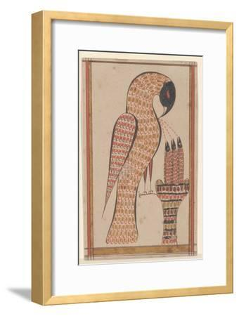 Pelican in its Piety, Fraktur Painting, C.1810-David Kulp-Framed Giclee Print
