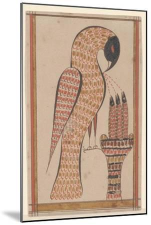 Pelican in its Piety, Fraktur Painting, C.1810-David Kulp-Mounted Giclee Print