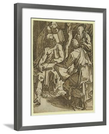 Four Doctors of the Church(?), Between 1500 and 1551-Domenico Beccafumi-Framed Giclee Print