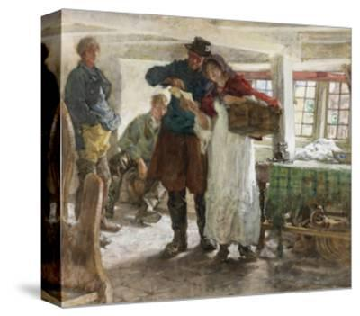 The Smugglers' News-Edgar Bundy-Stretched Canvas Print