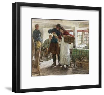 The Smugglers' News-Edgar Bundy-Framed Giclee Print