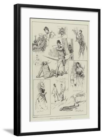 Sketches of Captain Swift at the Haymarket Theatre-David Hardy-Framed Giclee Print