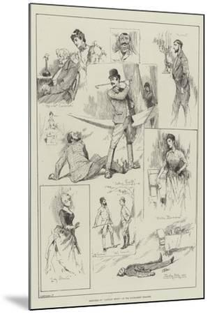 Sketches of Captain Swift at the Haymarket Theatre-David Hardy-Mounted Giclee Print